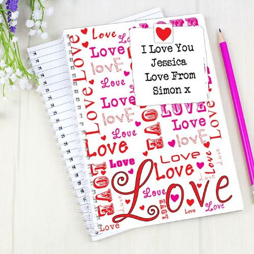 Personalised Lots of Loves A5 Notebook